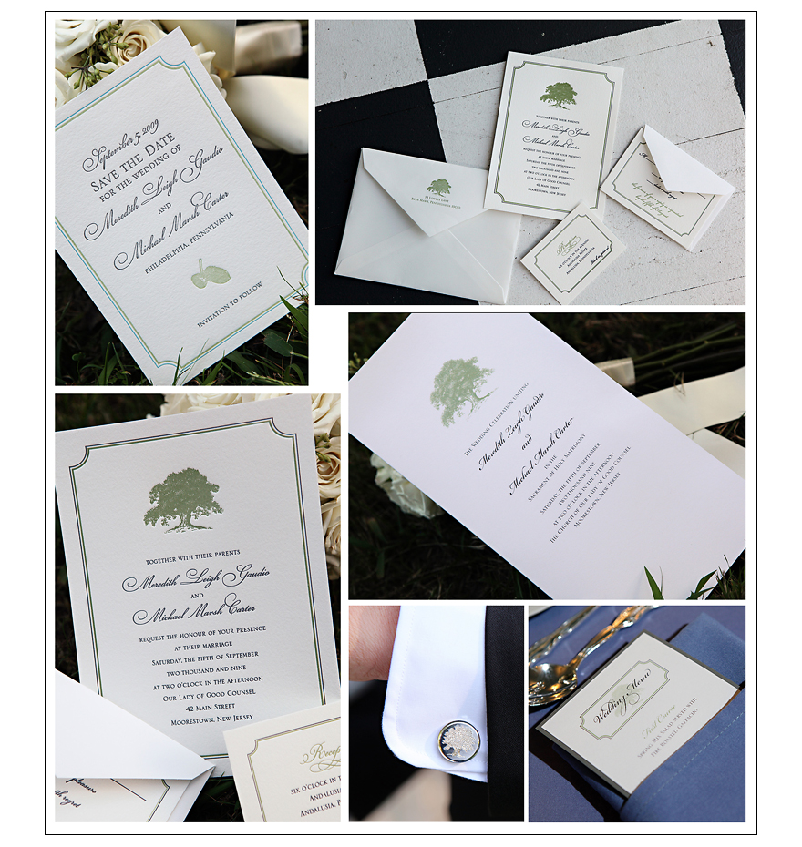 Andalusia philadelphia wedding invitations