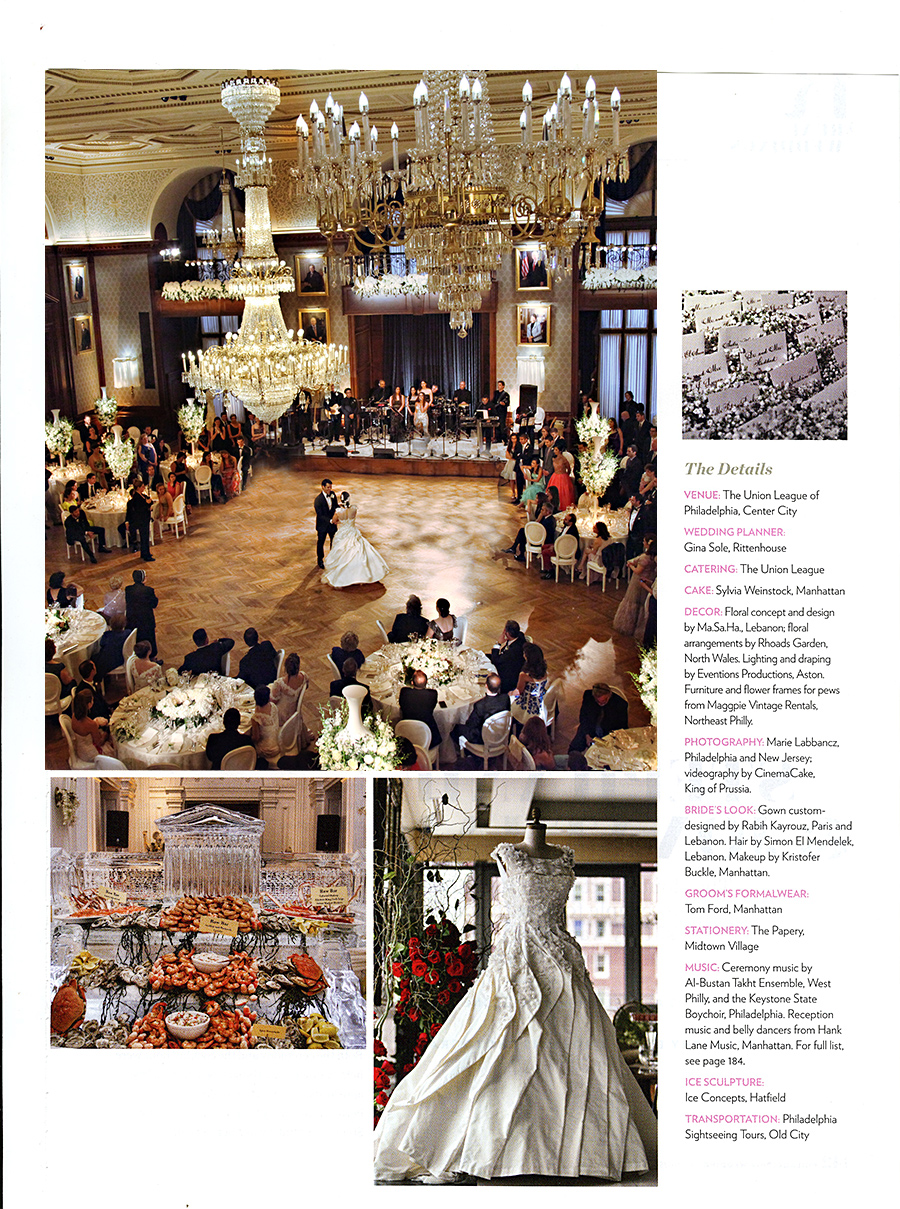 Union League Wedding Featured in Philadelphia Wedding Magazine ...
